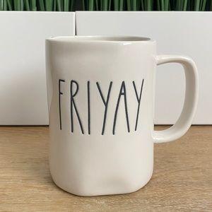RAE DUNN Friyay Mug Ivory